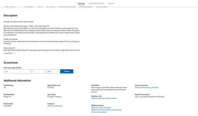 Buy Mafia II_ Definitive Edition - Microsoft Store - Mozilla Firefox 2020_05_13 22_22_21