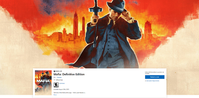 Buy Mafia_ Definitive Edition - Microsoft Store - Google Chrome 2020_05_13 22_20_43