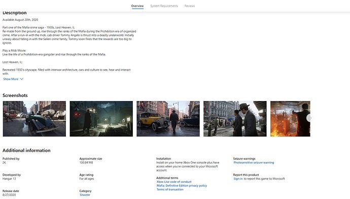 Buy Mafia_ Definitive Edition - Microsoft Store - Google Chrome 2020_05_13 22_21_15