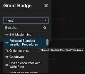 Badge drop-down